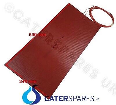 Silicone Flexible Rubber Heating Element Heat Matt Pad 530X240Mm 300W 240V