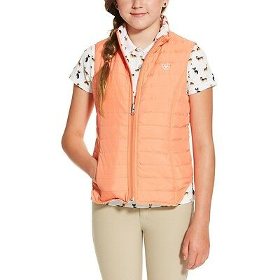 Ariat Girls Emma Reversible Padded Vest - Childs/Kids - Peach Dogs - Diff Sizes