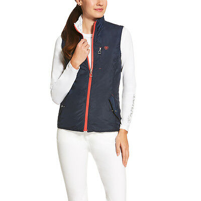 Ariat Out Fox Reversible Riding Vest - Ladies - Navy Blue Fox - Different Sizes