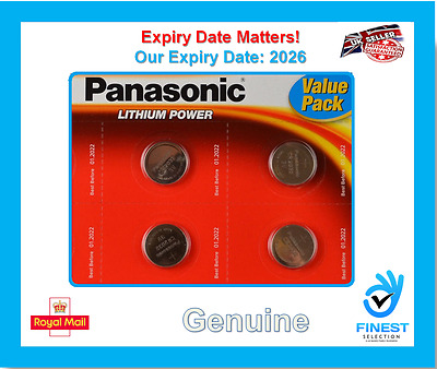 4x Panasonic CR2032 3V Lithium Coin Cell Battery 2032 Batteries Brand new stock