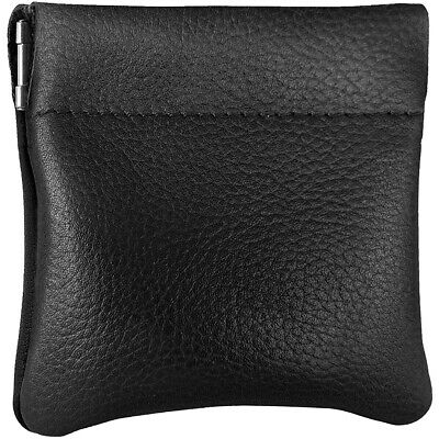 Leather Squeeze Coin Pouch Coin Purse Change Holder For Mens/Womens Nabob Leathe