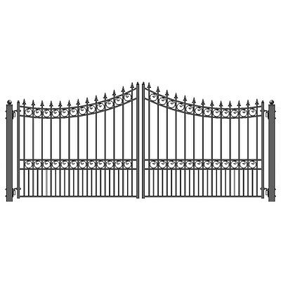 ALEKO Moscow Style Ornamental Iron Wrought Dual Driveway Gate 12' High Quality