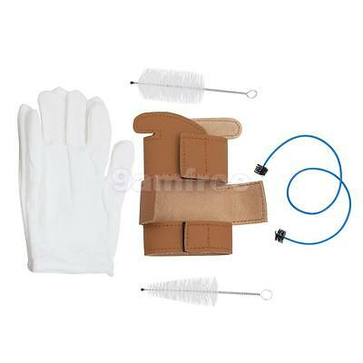 New 5pcs Trumpet Maintenance / Cleaning Kit - Brush Protector Gloves Set