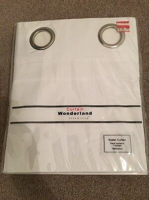 Curtains Ideas curtain wonderland : Curtain Wonderland 1 X White Block out Curtain BNIP • AUD 16.00 ...