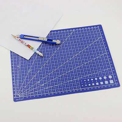 NEW A4 Grid Lines Cutting Mat Scale Plate Craft Card Fabric Leather Paper Board