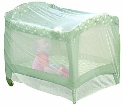 Nuby Baby Playpen Netting, Universal Size, White, Pack N Play Mosquito Net Play