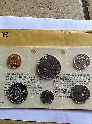 1968 Canadian coins set uncirculated