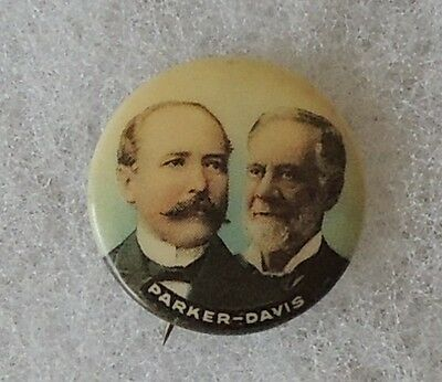 7/8 inch Alton Parker and Henry Davis Button