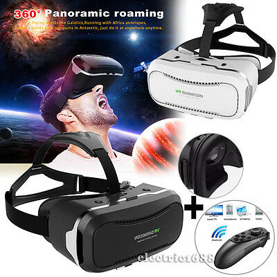 NEW 3D VR Box 2.0 Virtual Reality Glasses Goggles Headset +Remote For Smartphone