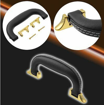 Black Artificial Leather Case Handle for Guitar Musical Case Luggage Replacement