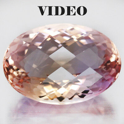 23.35 CT AAA! REAL!15 X 22mm. PURPLE& GOLDEN BOLIVIA AMETRINE OVAL FACE WITH CKB