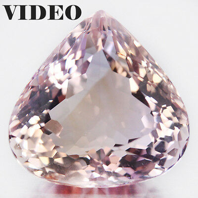 38.79 CT AAA! NATURAL! 22 X 22mm. PURPLE & GOLDEN BOLIVIA AMETRINE PEAR