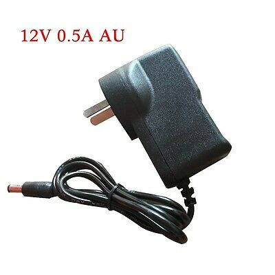 5.5mm x 2.1mm 12V 0.5A 500mA AC Converter Adapter DC Power Supply Charger