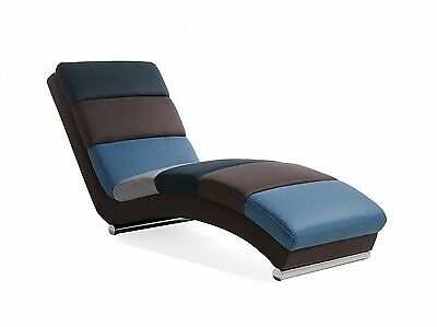 Chaise longue Lounge chair Padded seat Multicoloured