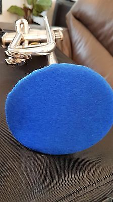 Trumpet Felt Mute - Blue & White Reversible - Wool Blend,  Warm Flugel Effect