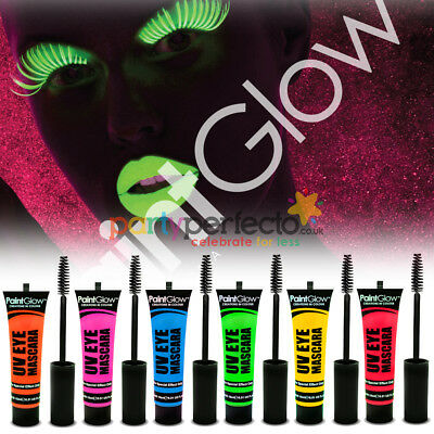 Paint Glow Neon UV Mascara - Choose From 6 Colours - Make Up Party Face Eye