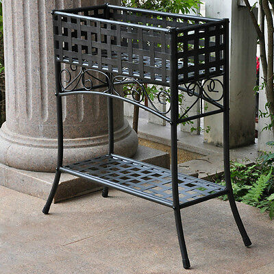Indoor Plant Stand Wrought Iron Bakers Rack Garden Flower Patio Holder Metal