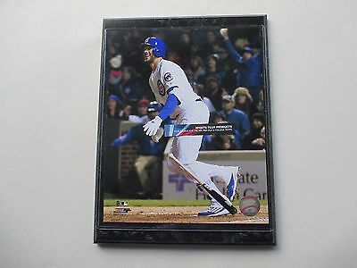 """Kris Bryant Chicago Cubs Homers At Wrigley Field Action Photo Mounted On A """"9 X"""