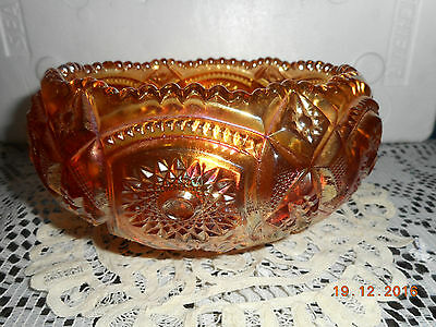 Antique Carnival Glass IMPERIAL FASHION MARIGOLD ROSE BOWL