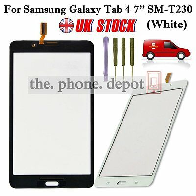 White Digitizer Touch Outer Glass Screen for Samsung Galaxy Tab 4 7'' SM-T230 UK