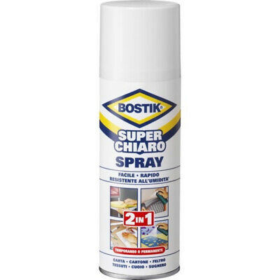 Bostik Superchiaro Colla Spray Universale a Contatto 500ml - D2250