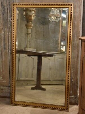 Early 19th century rectangular mirror with carved frame - Antique French mirror