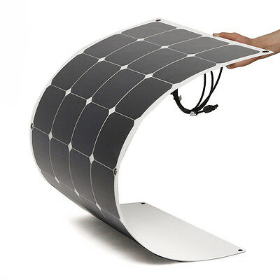 100W 18V Semi Flexible Solar Panel With 10A 12V/24V Solar Controller USA SELLER