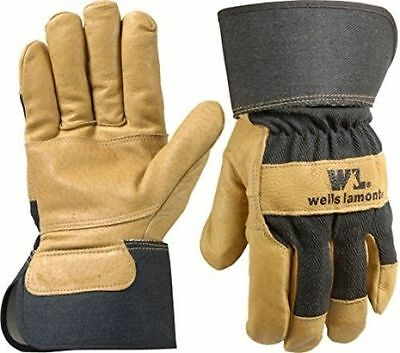 Wells Lamont Grain Leather Palm Work Gloves Safety Cuff Extra Large 3300XL New