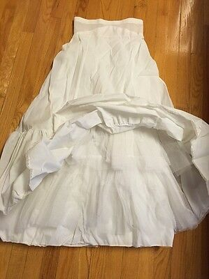 Vintage Long Petticoat Underskirt Bridal Gown Made In USA Beautiful