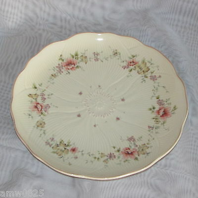"""Mikasa Forever Salad Plate Fv592 Spring Melodies 9 1/4"""" Pink Yellow Flowers"""