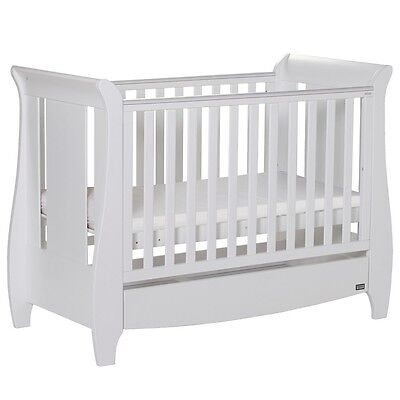 Tutti Bambini Katie Mini Sleigh Cotbed - White - APRIL OFFER