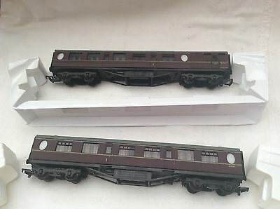 00 GAUGE BACHMANN 34-041 59' BR COMPOSITE MAROON COACHES x2   - BOXED