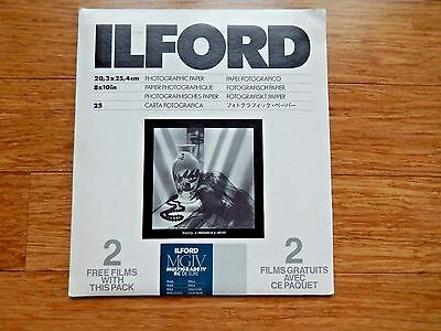 ILFORD Photographic Paper MGIV Multigrade IV RD DE LUXE Med Weigh 8X10 13 Counts