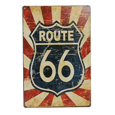 Route 66 Tin Sign Vintage Retro Metal Plaque Bar Pub Wall Decor.