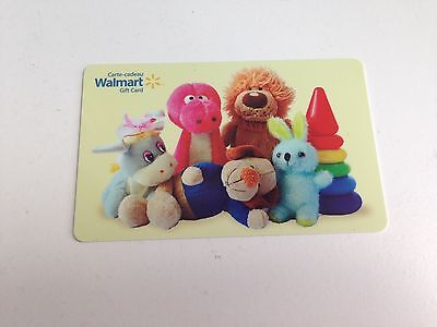 WAL-MART Gift Card ZERO $ BALANCE, Stuffed Animals Toys, No Value