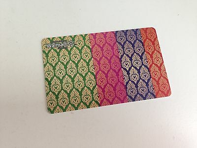 WAL-MART Gift Card ZERO $ BALANCE, COLORED PATTERN, No Value