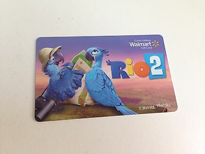 WAL-MART Gift Card ZERO $ BALANCE, RIO 2 BlueSky, No Value