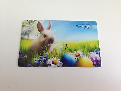 WAL-MART Gift Card ZERO $ BALANCE, EASTER BUNNY EGGS, No Value