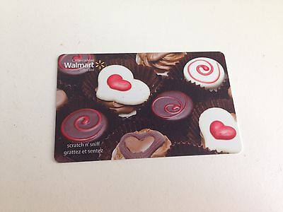 WAL-MART Gift Card ZERO $ BALANCE, VALENTINE CHOCOLATES SNIFF, No Value