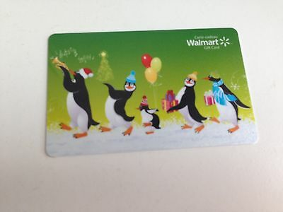 WAL-MART Gift Card ZERO $ BALANCE, PENGUINS DANCING, No Value