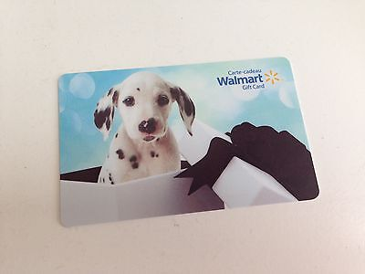 WAL-MART Gift Card ZERO $ BALANCE, DALMATION DOG GIFT, No Value