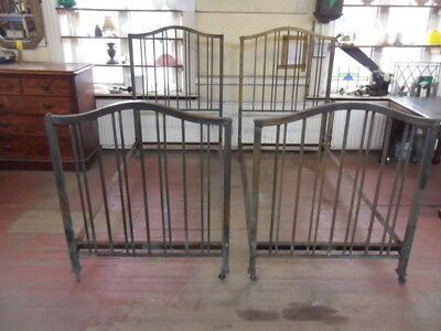 maple & co antique brass single bedsteads bed & irons to restore buy 1 of 2 beds