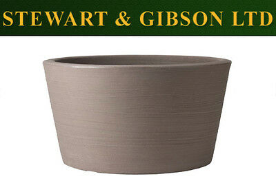Stewart Garden Products Dark Brown Varese Low Planter 40x35.5cm