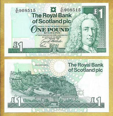 Scotland 1 Pound 1996 Money Bill P-351c Unc Currency Note ***USA SELLER***