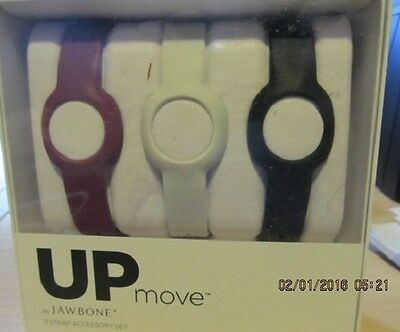 3 Strap Accessory Set For Jawbone Up Activity Monitor New In Box
