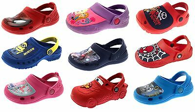Boys Girls Character Beach Sandals Summer Clogs Mules Kids Slip On Shoes Size