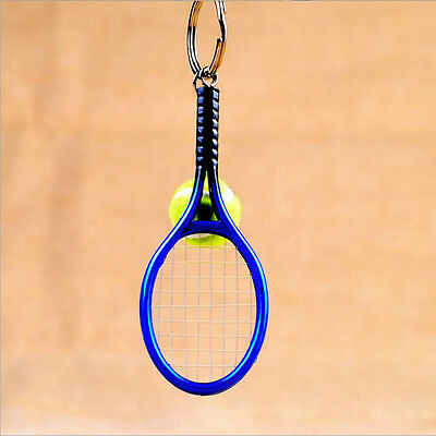 Sale Keyring Mini Tennis Racket Pendant Keychain Perfect Gifts Key Accessory