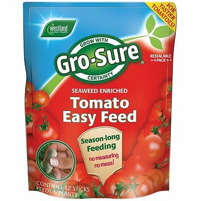 Westland Gro-Sure Tomato Easy Feed Vegetable Plant Food 12 Sticks