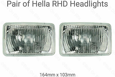 Rectangular Halogen Headlights Headlamps JEEP Wrangler YJ 1995 1996 HELLA