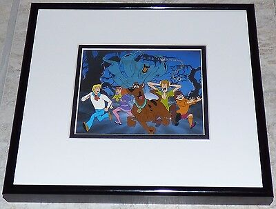 Hanna Barbera Scooby Doo Beware The Green Ghost Framed Cel Promo Card Shaggy